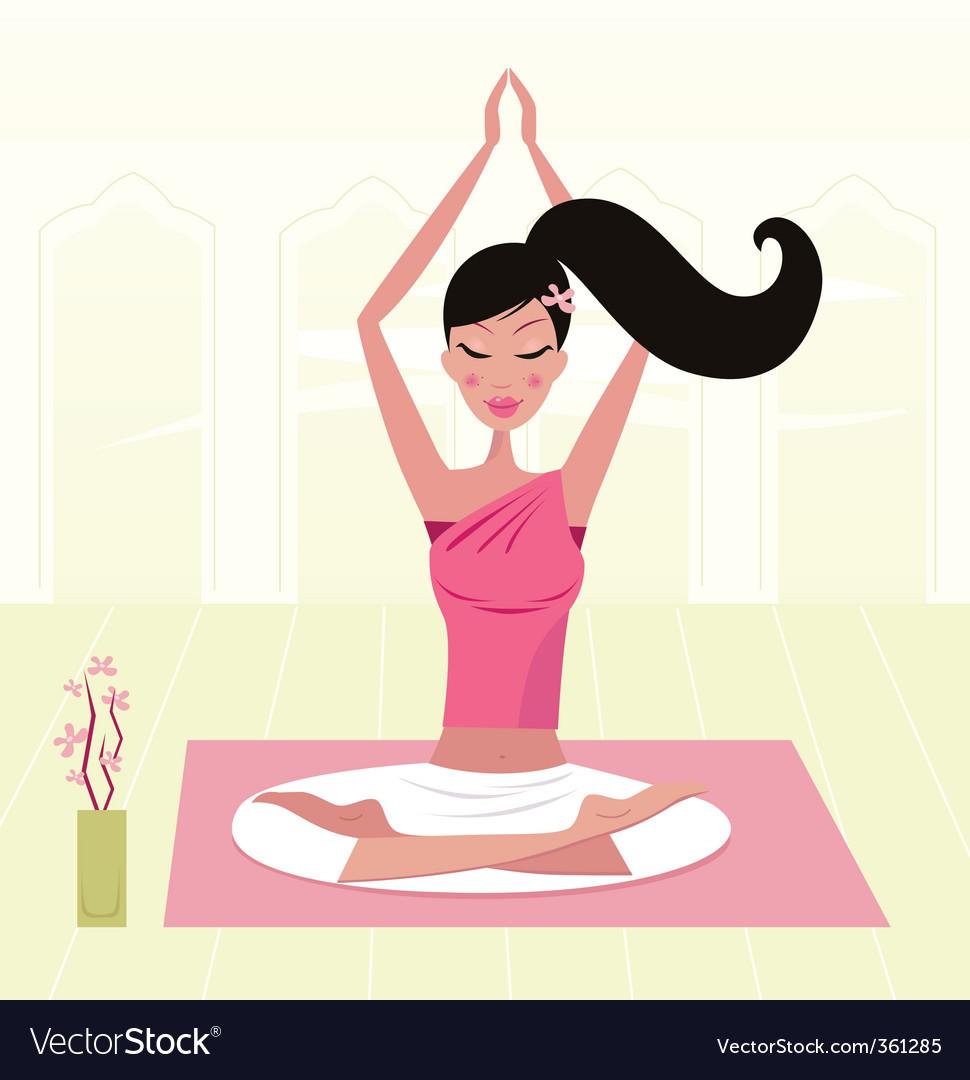 Yoga girl vector | Price: 3 Credit (USD $3)