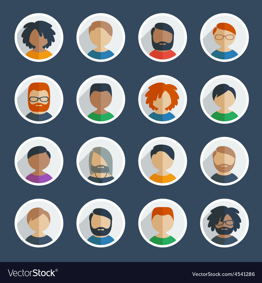 Collection of 25 user icons vector