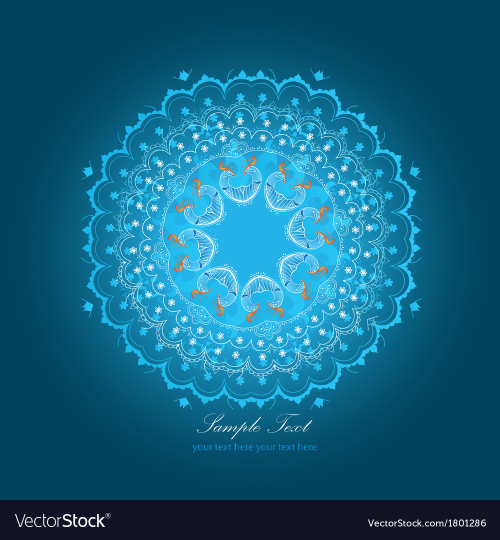 Exotic round ornament vector | Price: 1 Credit (USD $1)