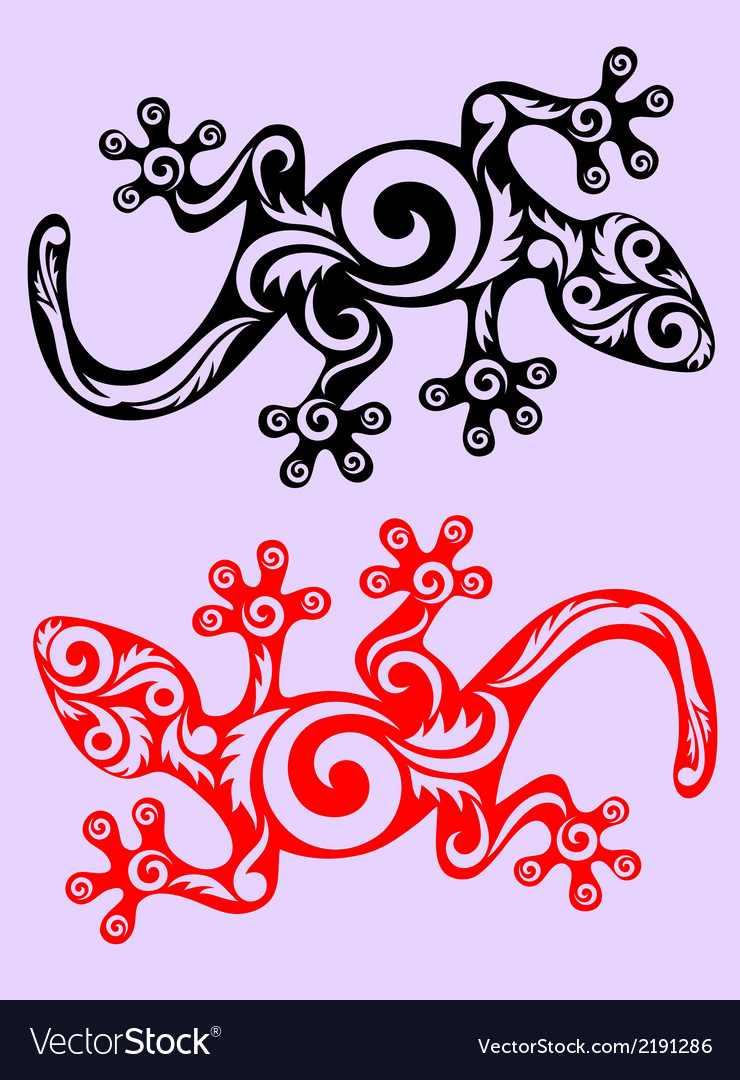 Lizard ornate vector | Price: 1 Credit (USD $1)
