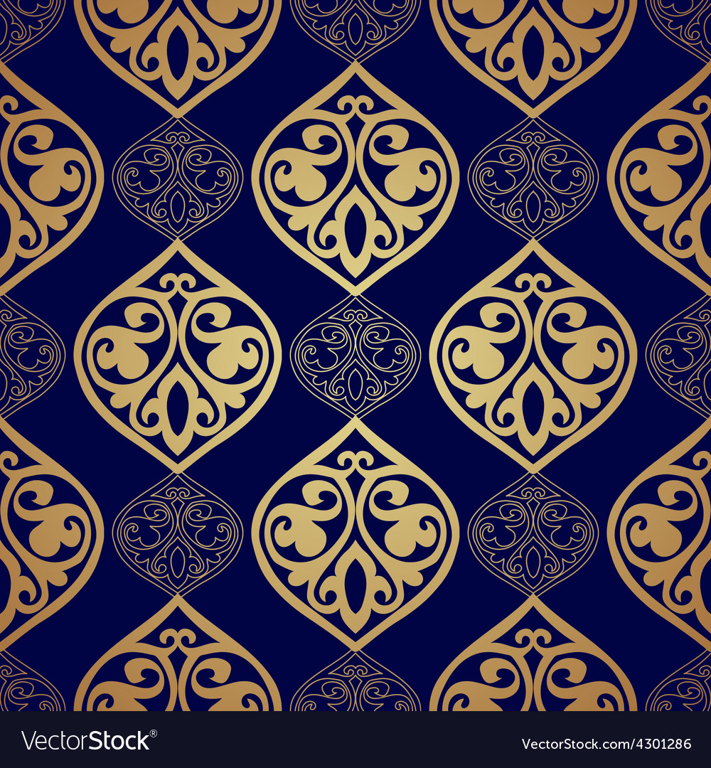 Luxury damask seamless motif vector | Price: 1 Credit (USD $1)