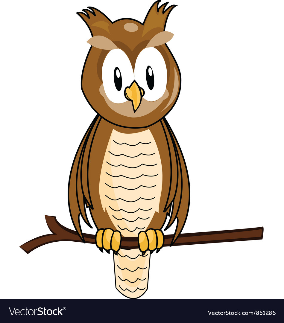 Owl cartoon vector | Price: 1 Credit (USD $1)