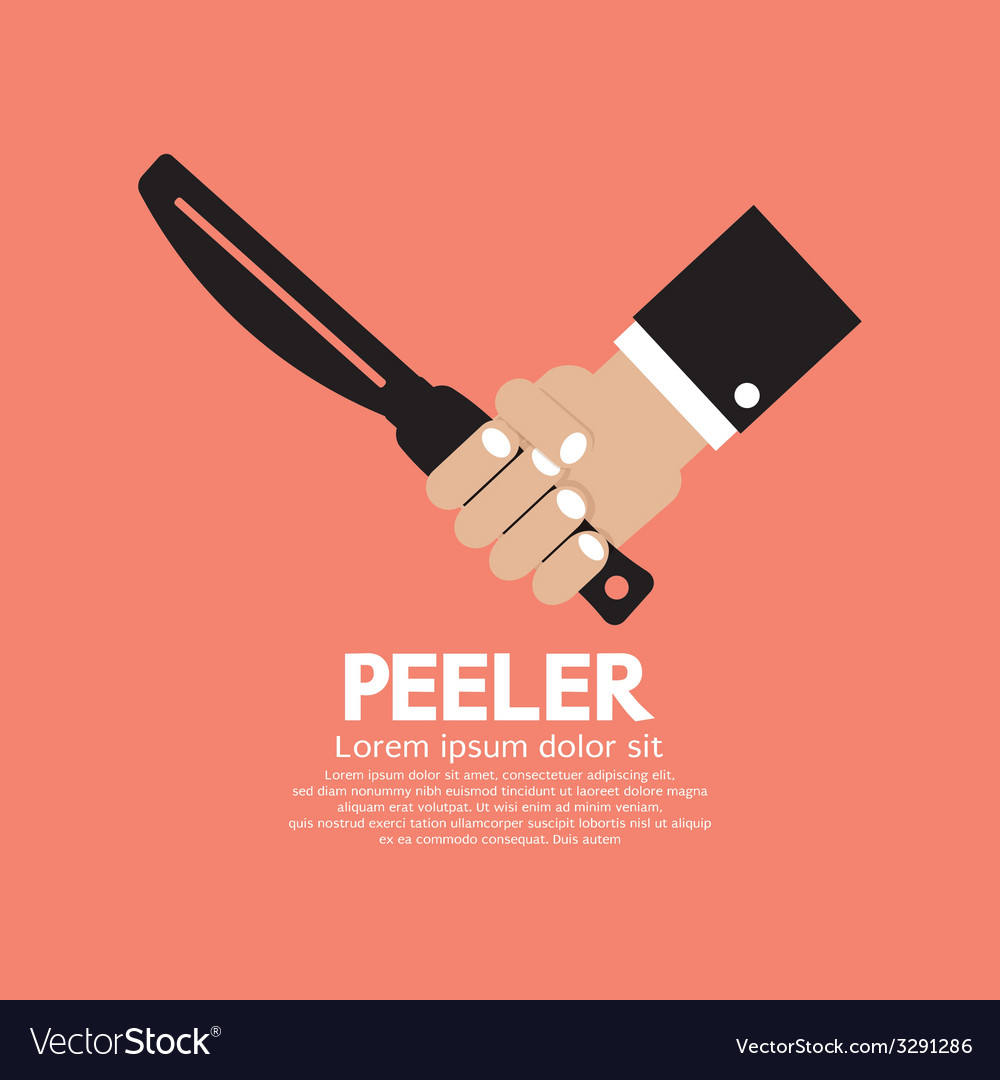 Peeler kitchen utensil vector | Price: 1 Credit (USD $1)