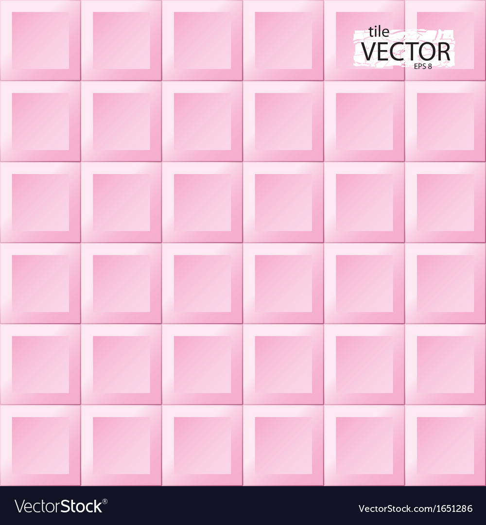 Pink tiles pattern vector | Price: 1 Credit (USD $1)
