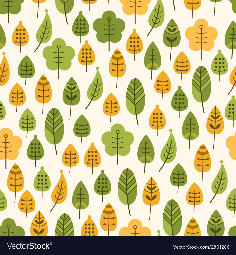 Seamless background with leaves leaf fall vector | Price: 1 Credit (USD $1)