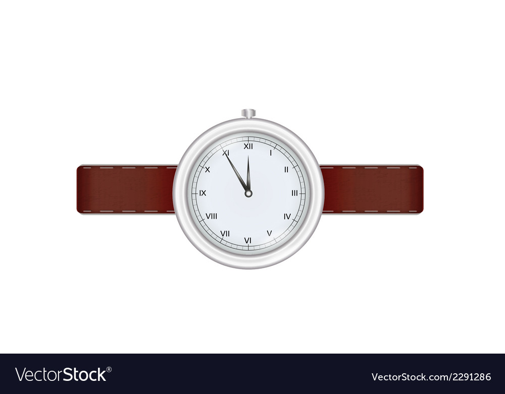 Silver watch vector | Price: 1 Credit (USD $1)