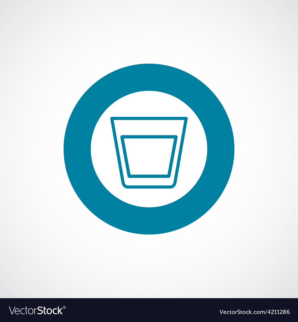 Vodka icon bold blue circle border vector | Price: 1 Credit (USD $1)
