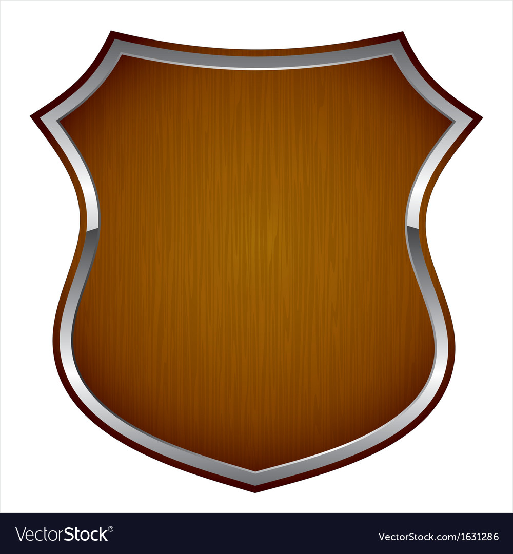 Wooden shield vector | Price: 1 Credit (USD $1)