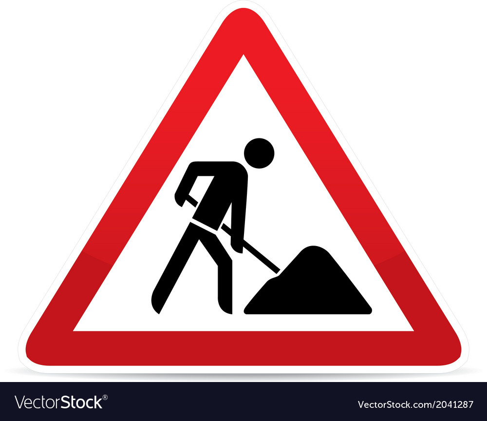 Building construction site warning sign vector | Price: 1 Credit (USD $1)