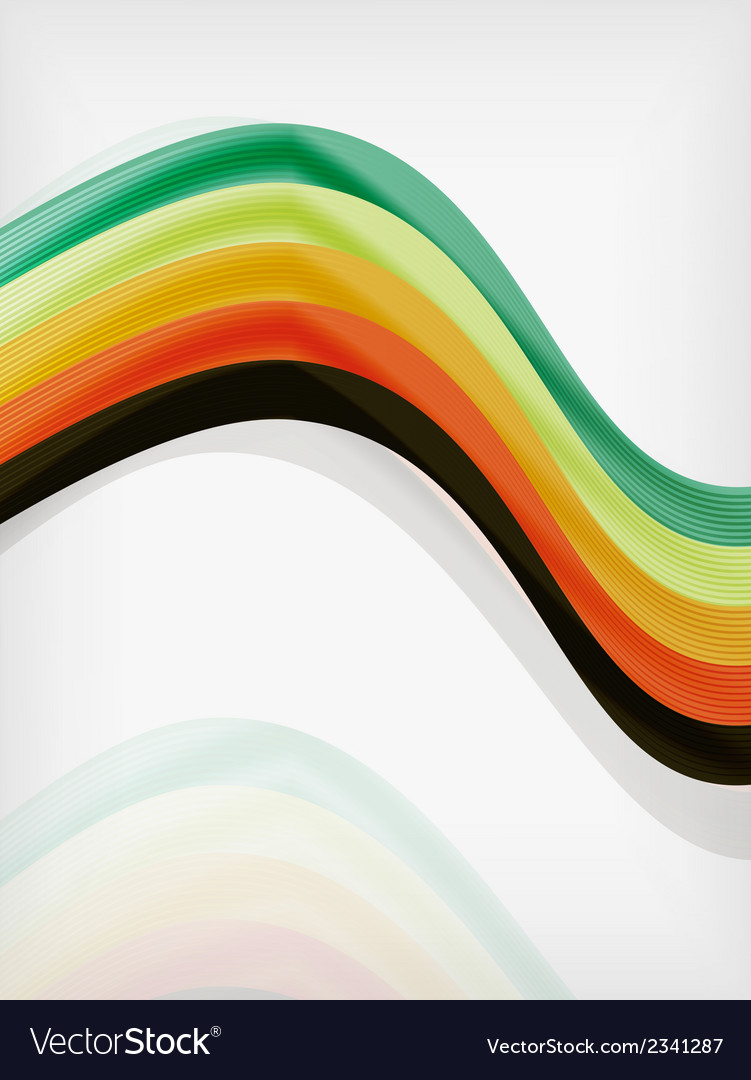 Colorful abstract flowing elegant lines vector | Price: 1 Credit (USD $1)