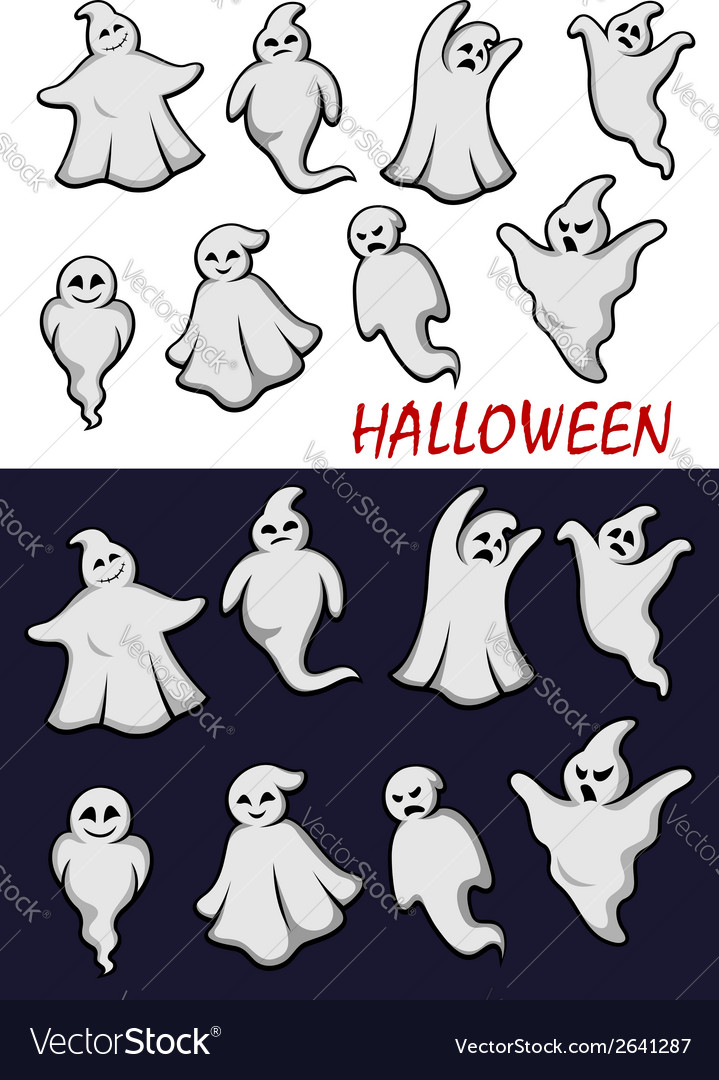 Cute halloween ghosts vector | Price: 1 Credit (USD $1)