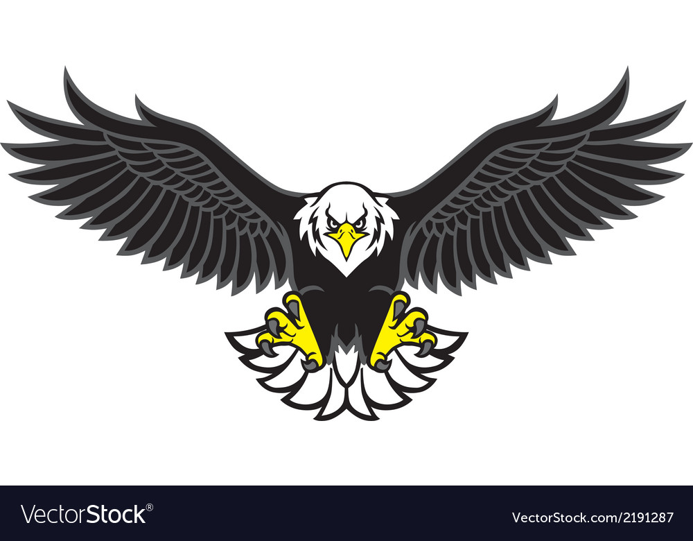 Eagle mascot spread the wings vector | Price: 1 Credit (USD $1)