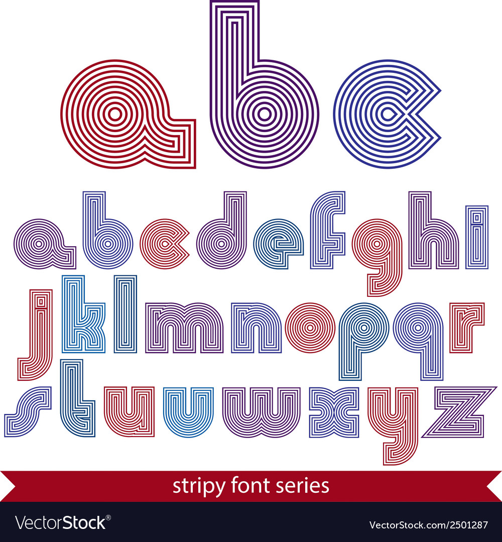 Elegant unusual striped typescript colorful lined vector | Price: 1 Credit (USD $1)