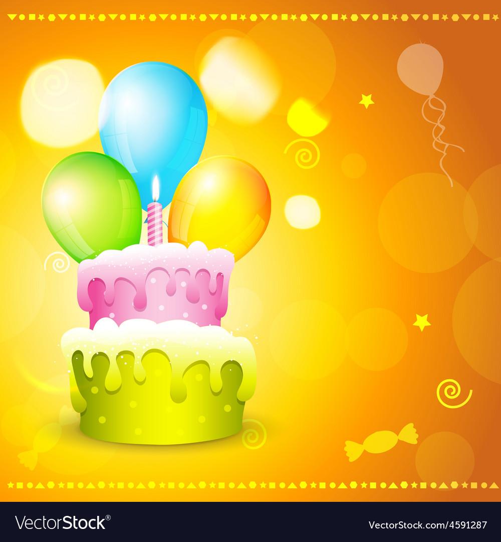 Greeting card of birthday vector   Price: 1 Credit (USD $1)