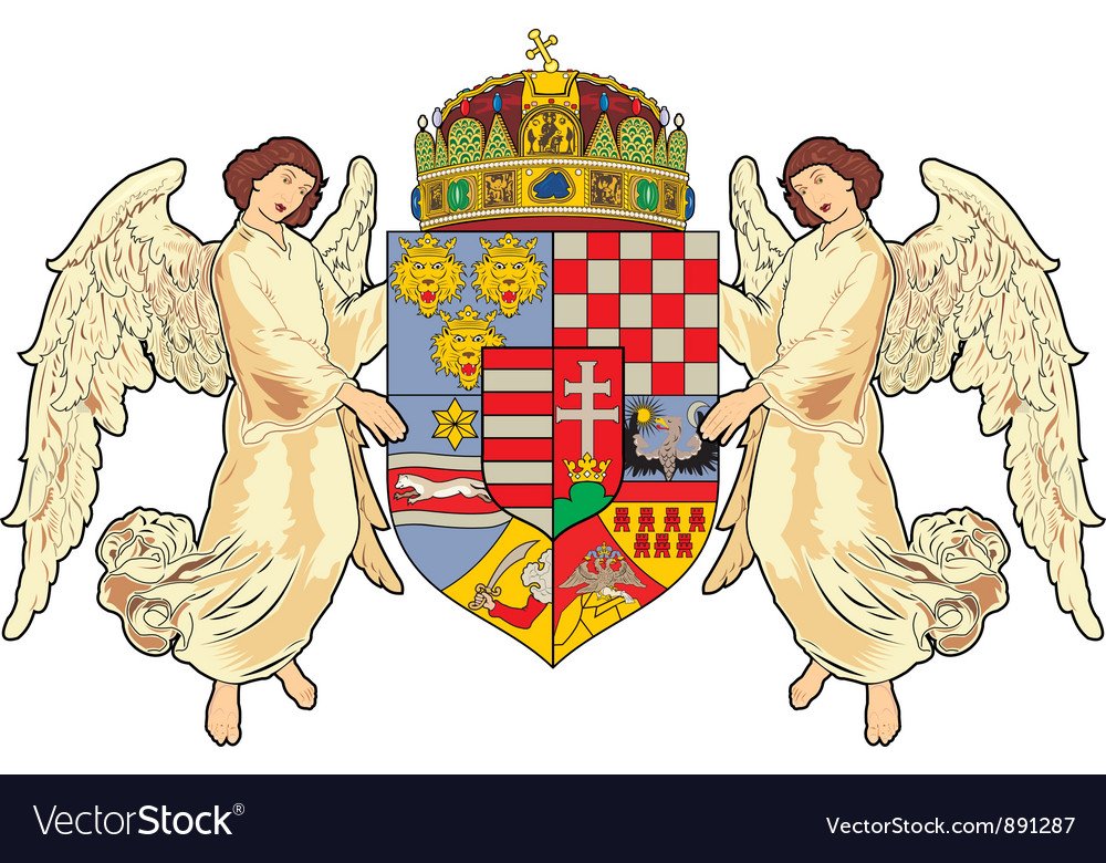 Hungary coat-of-arms vector | Price: 1 Credit (USD $1)