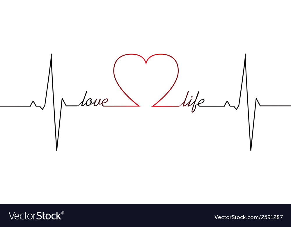 Love life heart beat vector | Price: 1 Credit (USD $1)