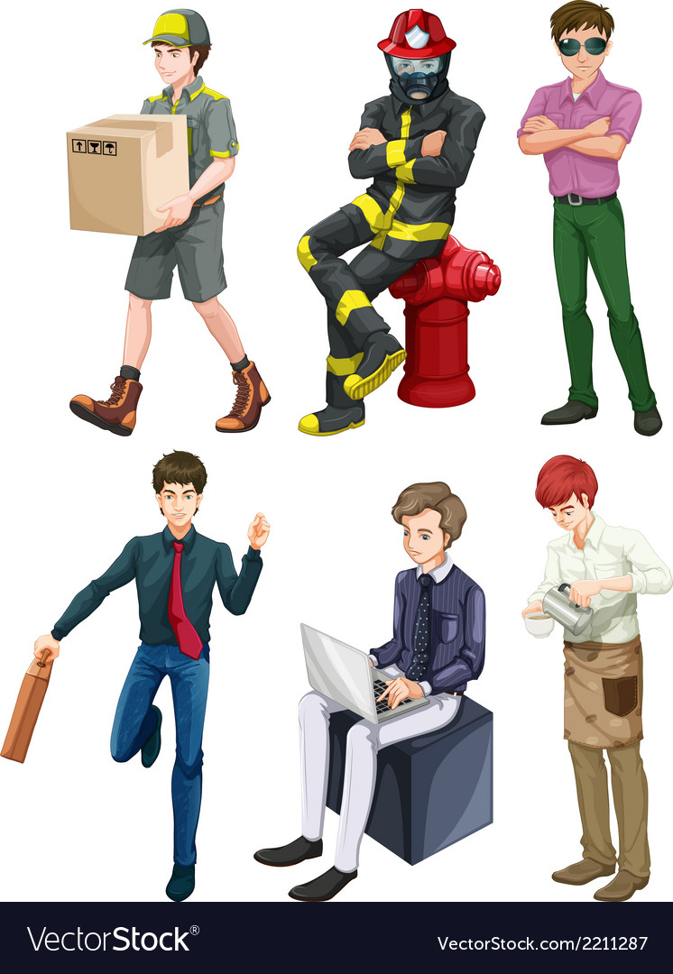 Men with different professions vector | Price: 3 Credit (USD $3)