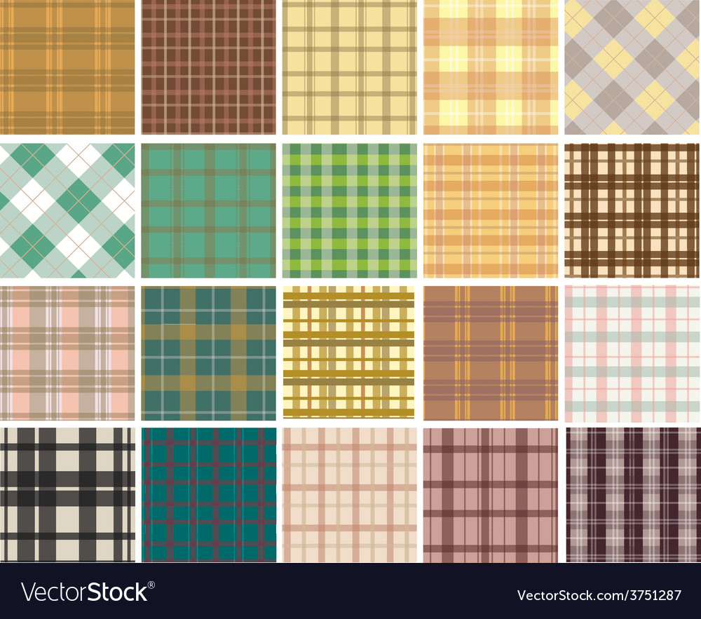 Plaid seamless patterns vector | Price: 1 Credit (USD $1)