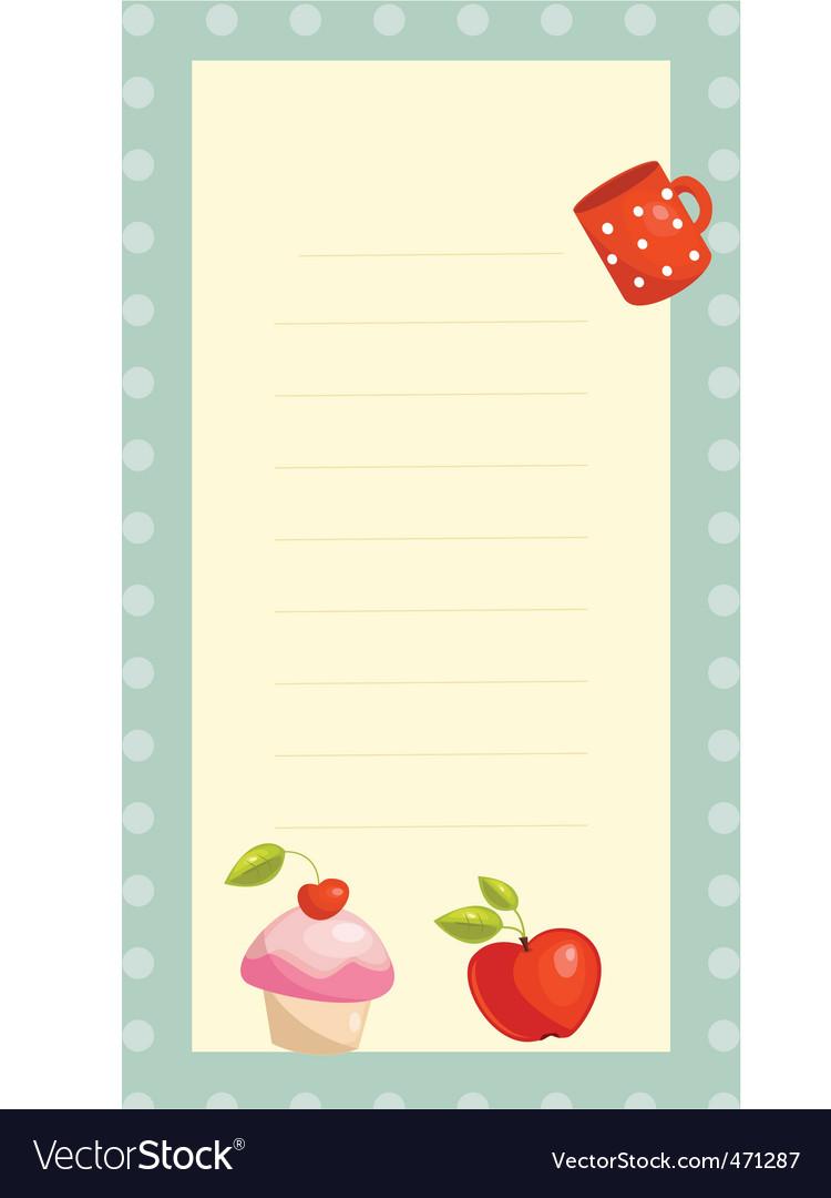 Recipe card vector | Price: 1 Credit (USD $1)