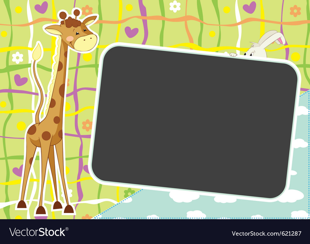 Summer african photo frame vector | Price: 1 Credit (USD $1)