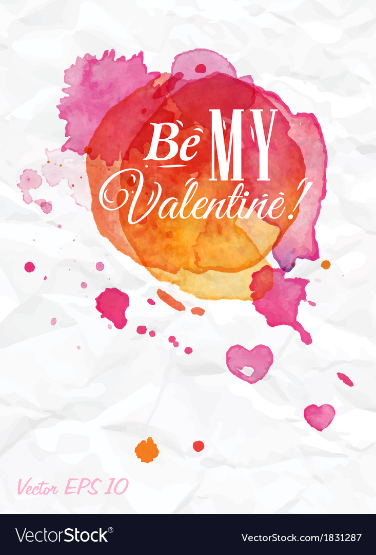 Watercolor valentines day card vector | Price: 1 Credit (USD $1)