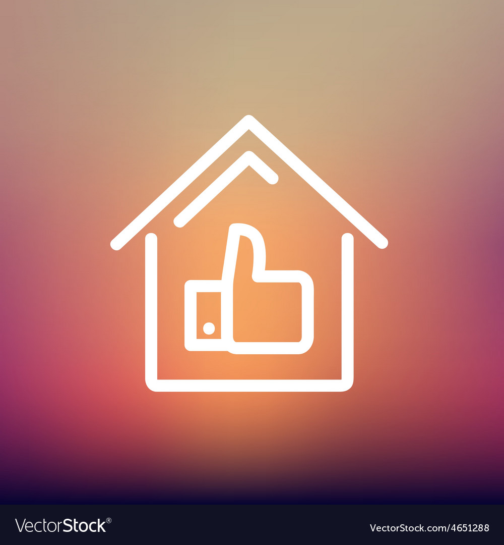 Approved housing loan thin line icon vector   Price: 1 Credit (USD $1)