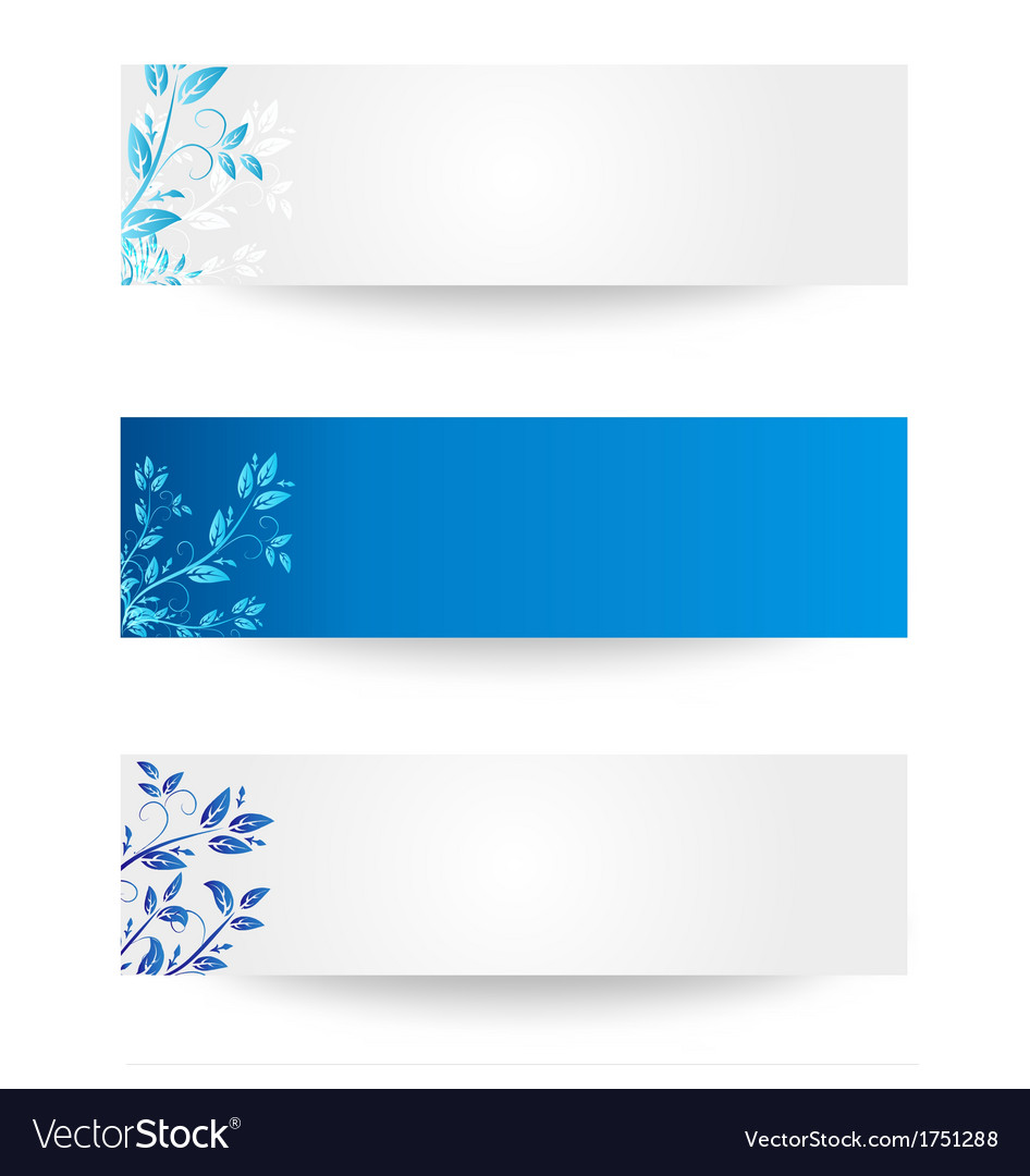 Banner with leaves vector | Price: 1 Credit (USD $1)