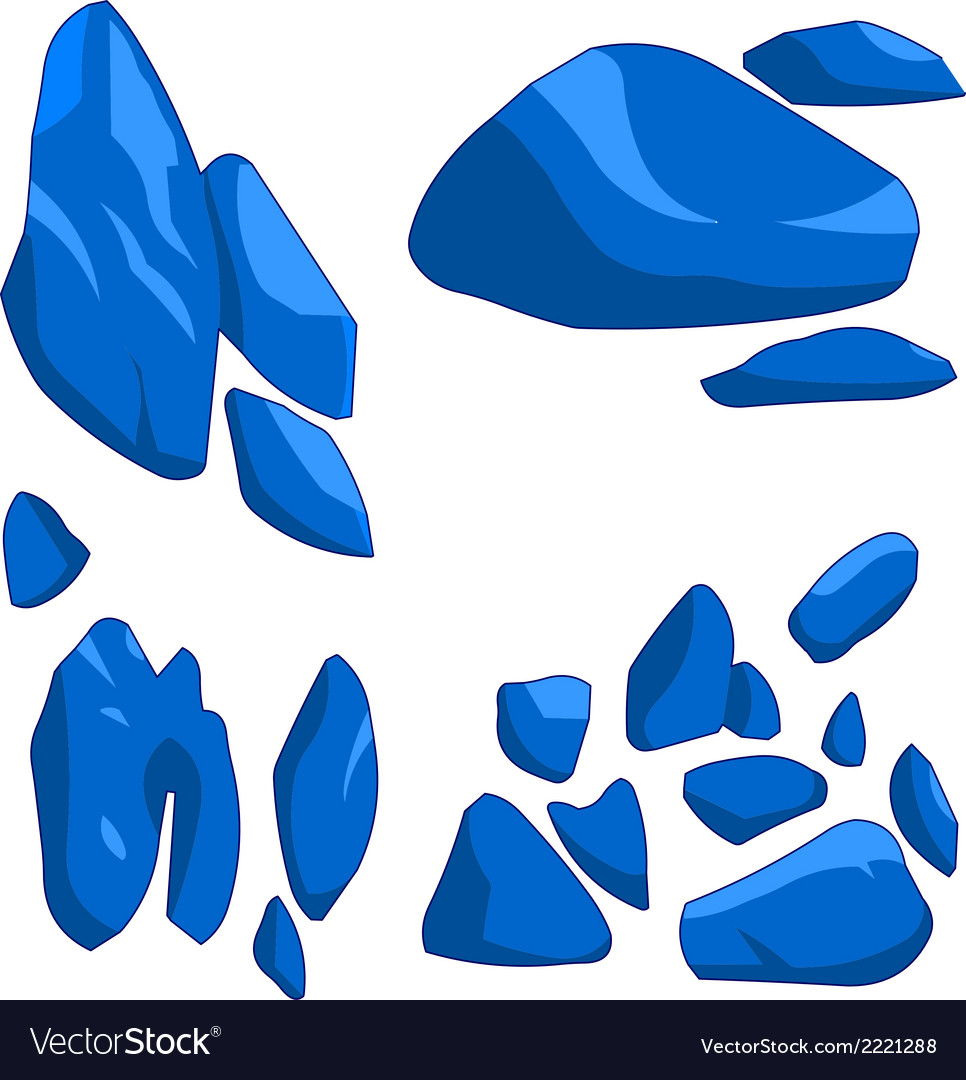 Blue rock vector | Price: 1 Credit (USD $1)