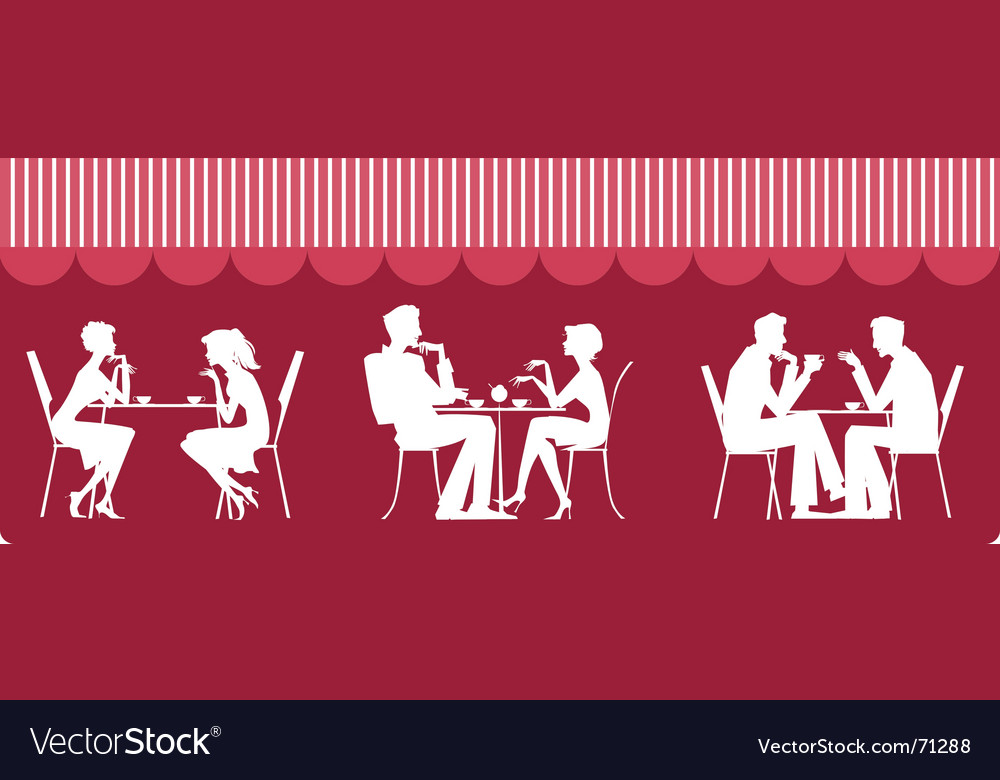 Cafe scene vector | Price: 1 Credit (USD $1)