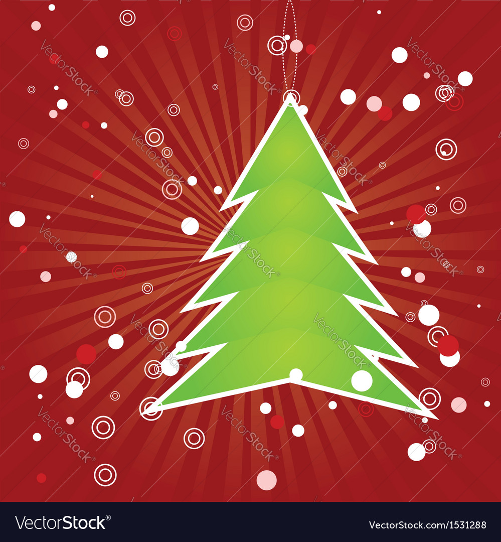 Christmas tree green applique vector | Price: 1 Credit (USD $1)