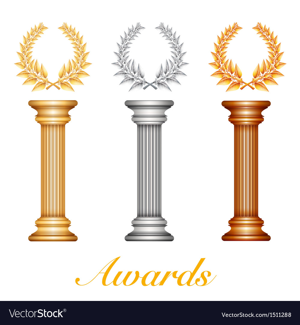 Column laurel awards vector | Price: 1 Credit (USD $1)