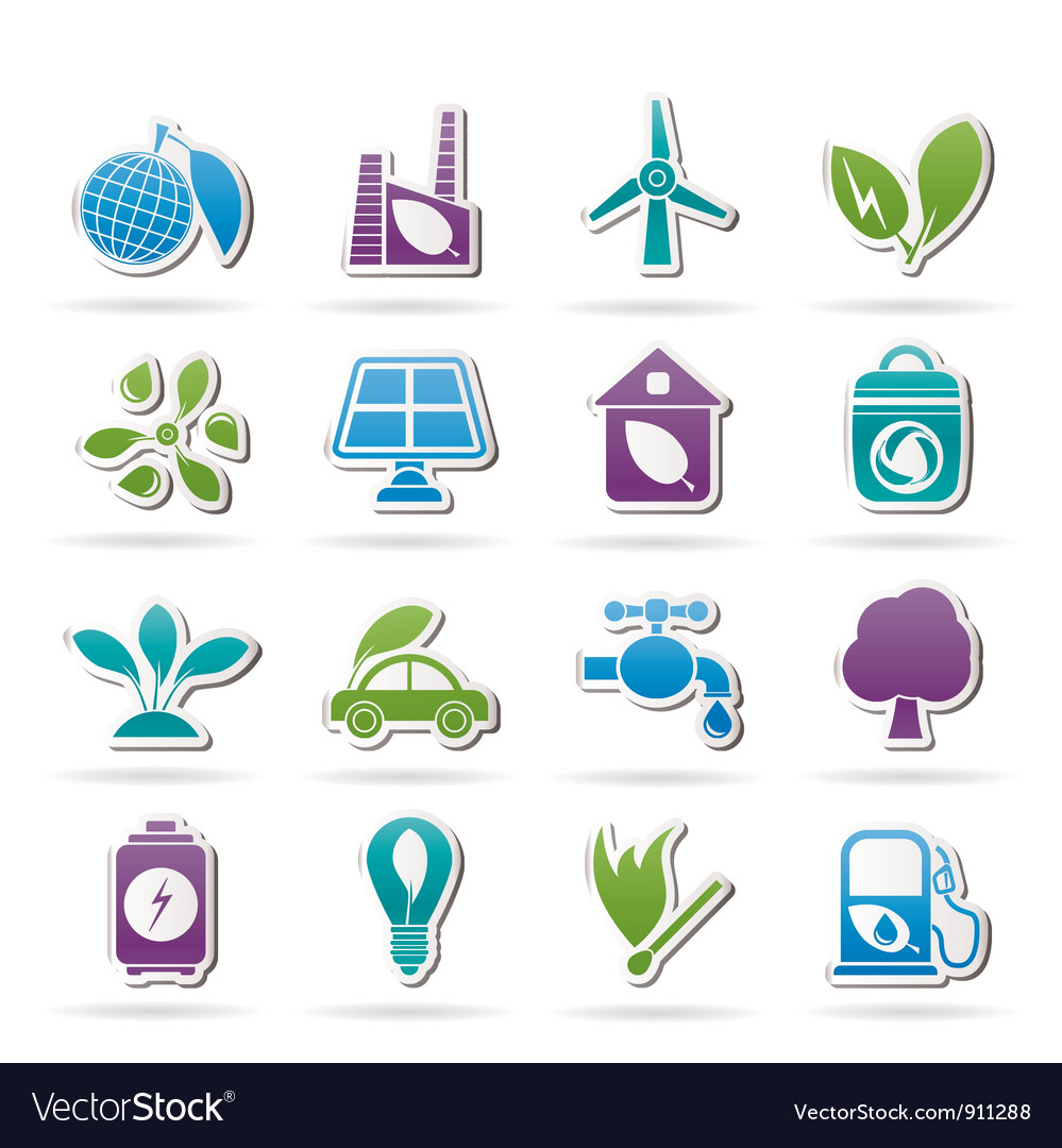 Environment and ecology icons vector   Price: 1 Credit (USD $1)