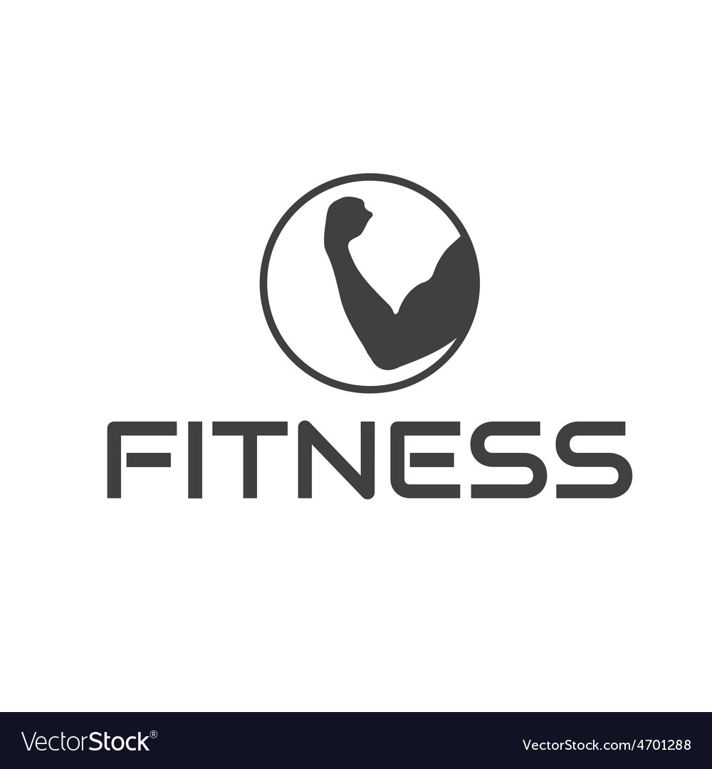 Fitness emblem with muscle vector   Price: 1 Credit (USD $1)