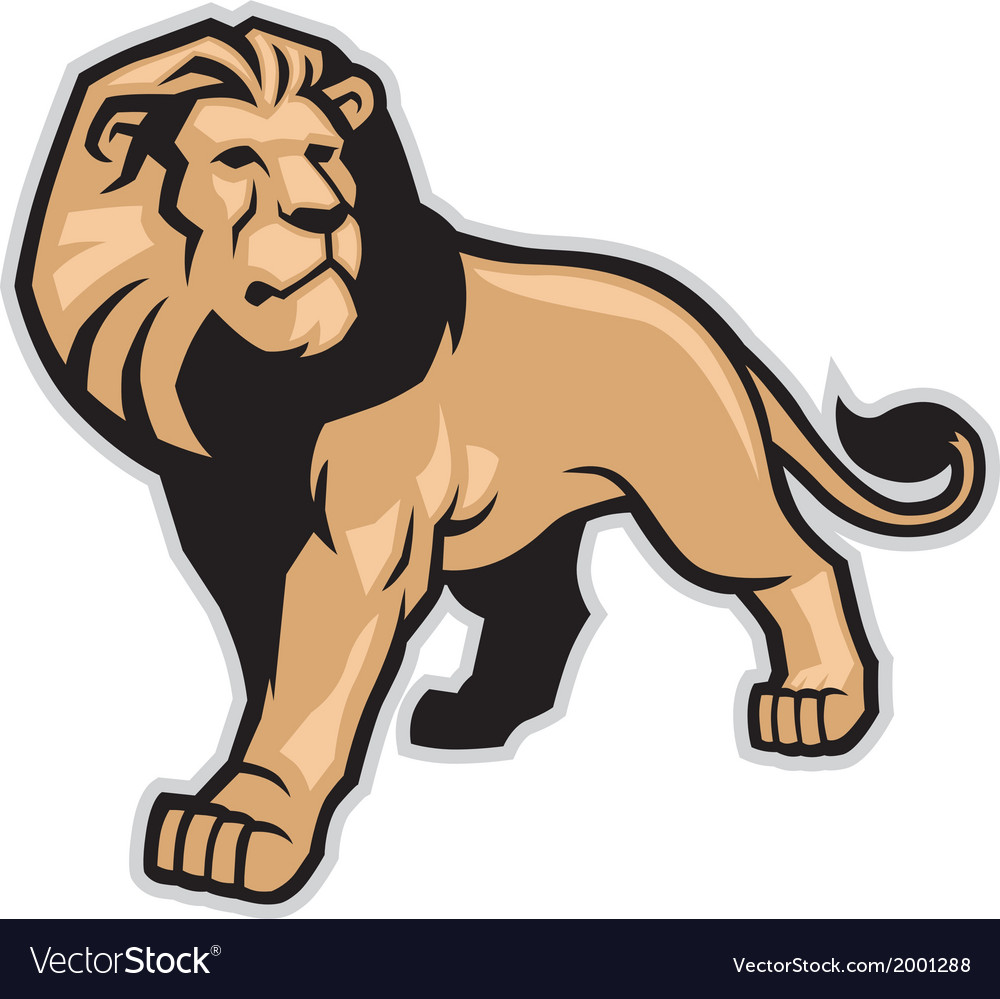 Lion mascot vector | Price: 1 Credit (USD $1)