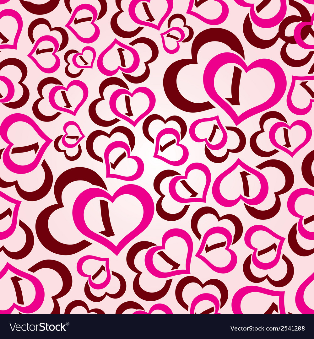 Love hearts seamless pattern eps10 vector | Price: 1 Credit (USD $1)