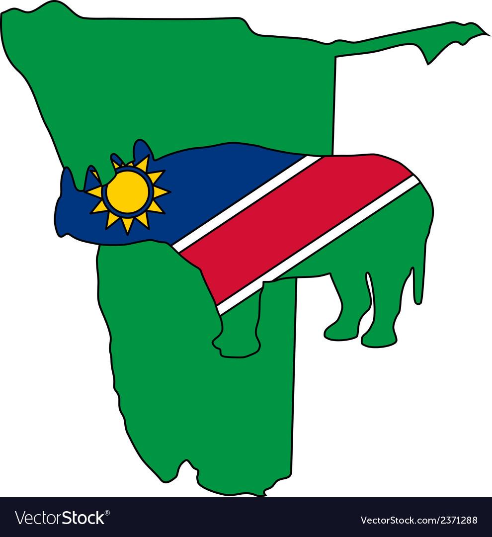 Namibia black rhino vector | Price: 1 Credit (USD $1)