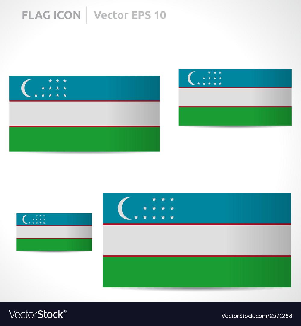 Uzbekistan flag template vector | Price: 1 Credit (USD $1)