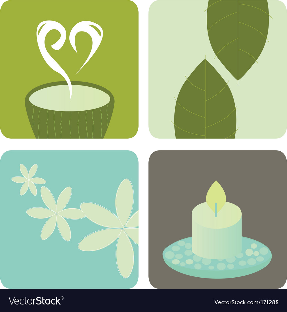 Wellness and relaxation icon pack vector | Price: 1 Credit (USD $1)