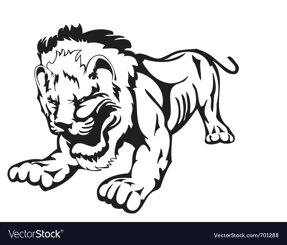 Wild lion vector | Price: 1 Credit (USD $1)