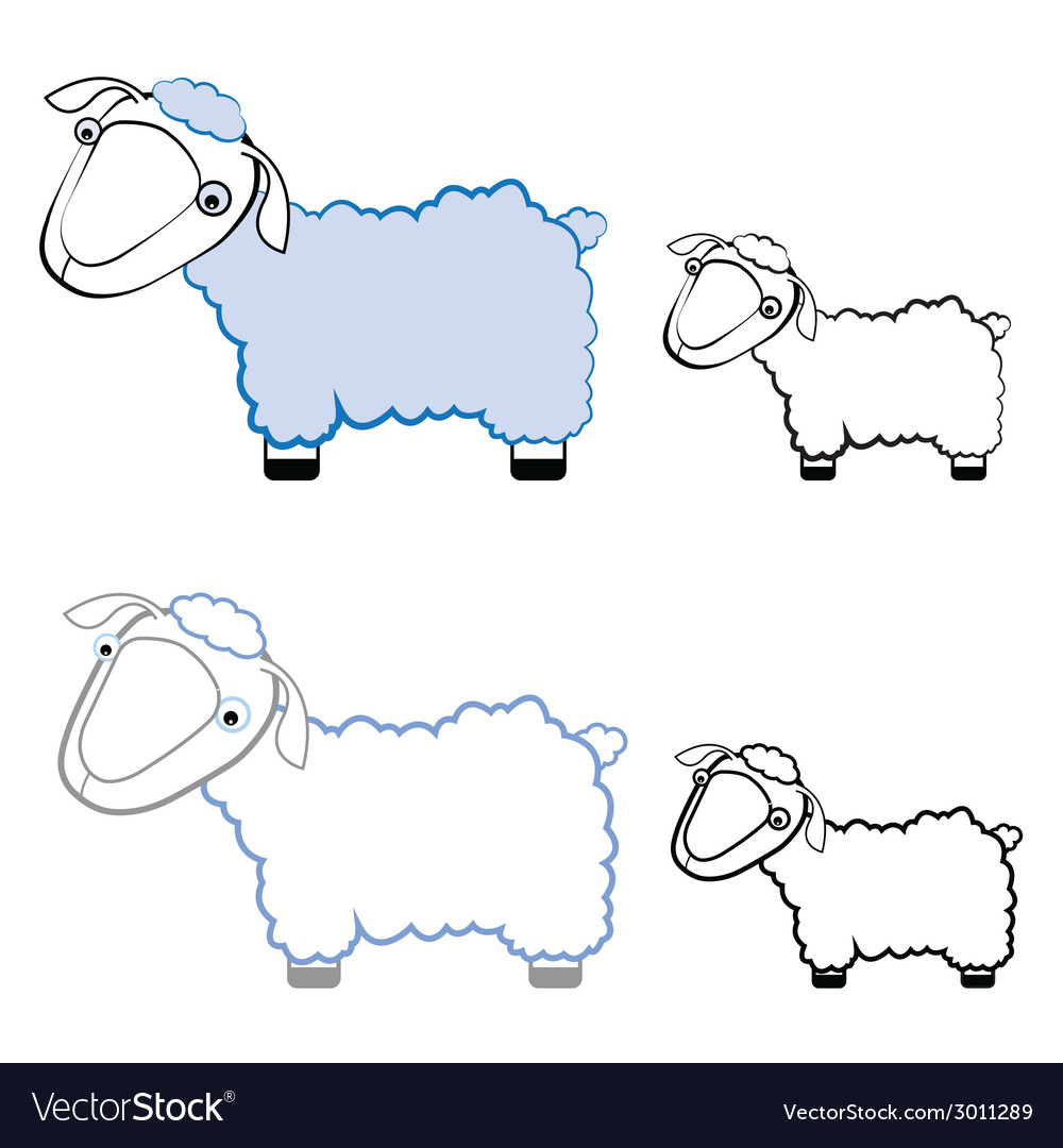 Funny sheep in different styles vector | Price: 1 Credit (USD $1)
