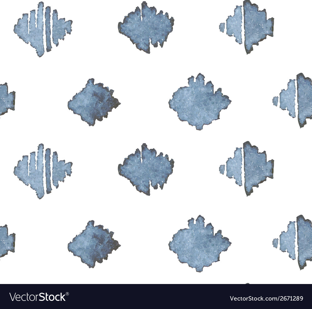 Indigo blue hand drawn seamless pattern vector | Price: 1 Credit (USD $1)