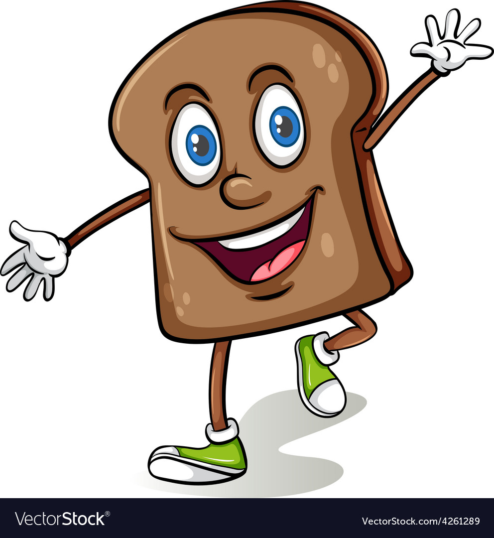 Loaf of bread with a face vector | Price: 1 Credit (USD $1)
