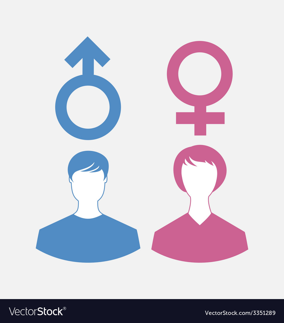 Male and female icons gender symbols - vector | Price: 1 Credit (USD $1)