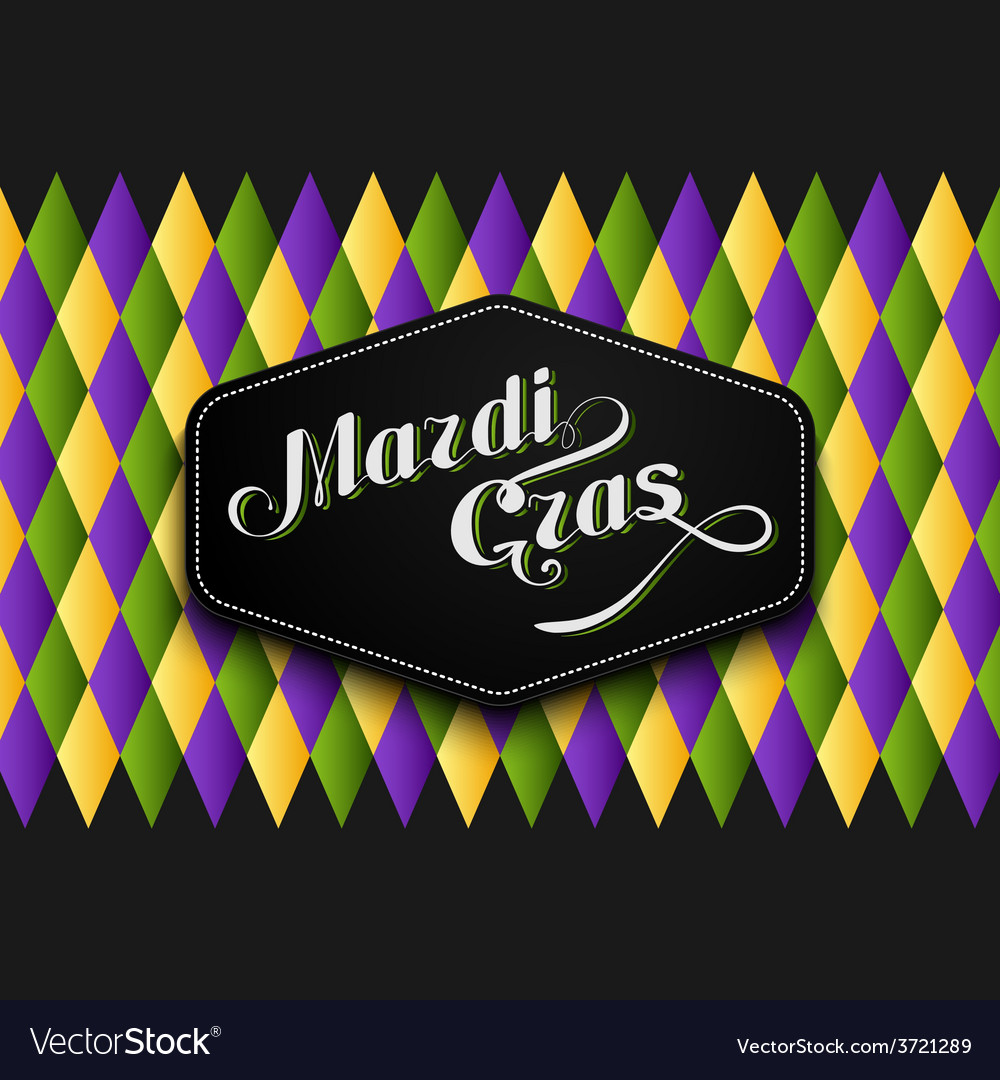 Mardi gras or shrove tuesday lettering label vector | Price: 1 Credit (USD $1)