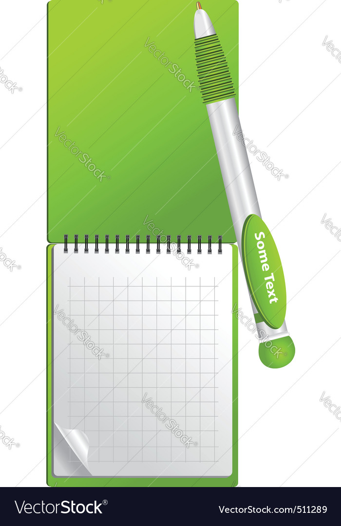Notebook object vector | Price: 1 Credit (USD $1)