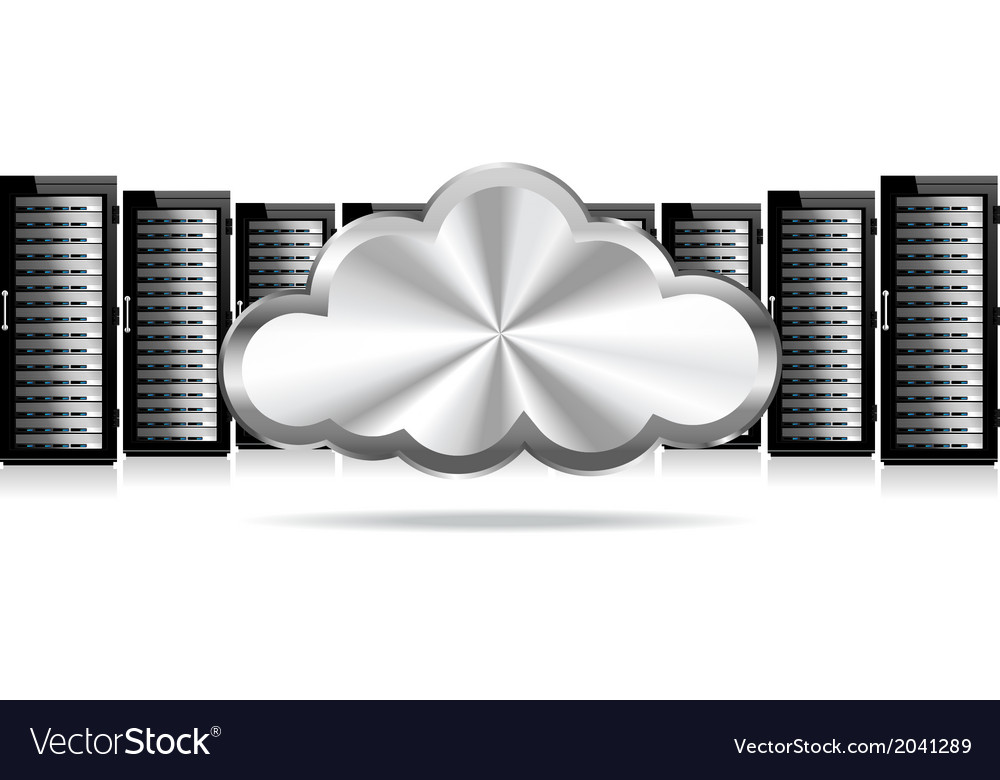Servers cloud computing vector | Price: 1 Credit (USD $1)