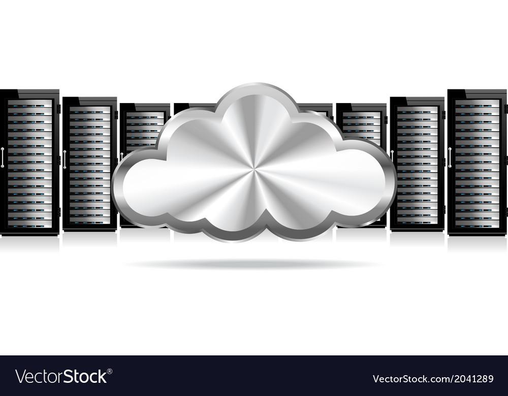 Servers cloud computing vector | Price: 1 Credit (USD $1)