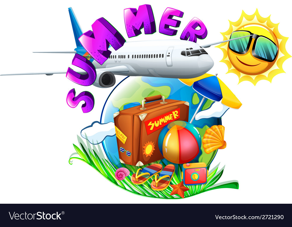 A summer artwork showing a vacation trip vector | Price: 1 Credit (USD $1)