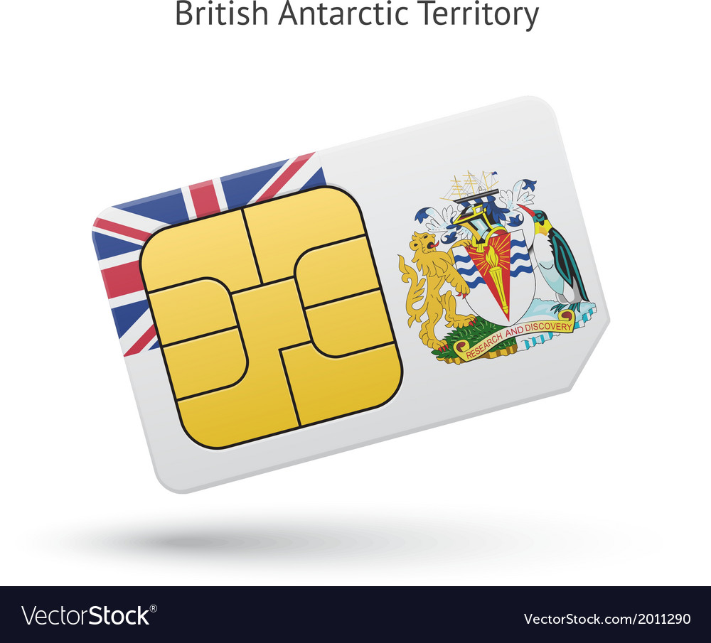 British antarctic territory phone sim card with vector | Price: 1 Credit (USD $1)