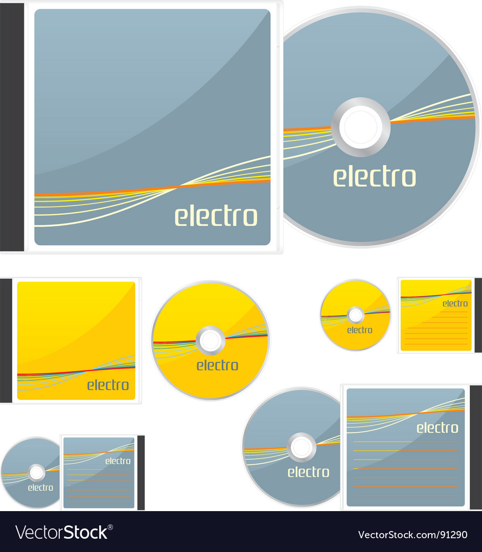 Compact disks with electro layout vector | Price: 1 Credit (USD $1)